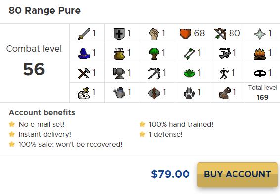 80 range pure osrs