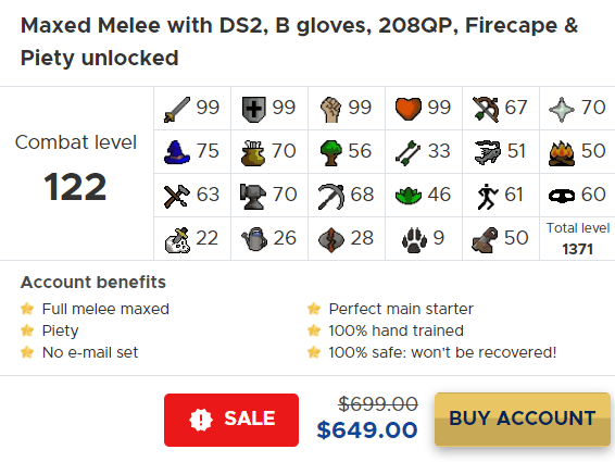 osrs maxed melee